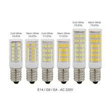 Ampoule LED G9 G4 E14 220V, projecteur, lumière SMD 2835, lampe halogène, pour lustre, 1 pièce