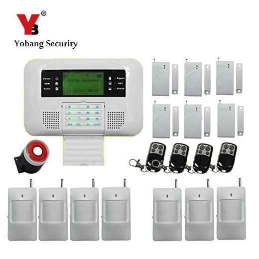 YobangSecurity Spanish Russian Voice Home Security Wireless Wired PSTN GSM Alarm System 433MHz Door Contact PIR Detector Alarm wireless smoke fire detector for wireless for touch keypad panel wifi gsm home security burglar voice alarm system
