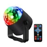 Мини-led хрустальный магический шар сцены 3 Вт Музыка Звук активированного RGB Сценическое освещение лампы Party Дискотека DJ свет