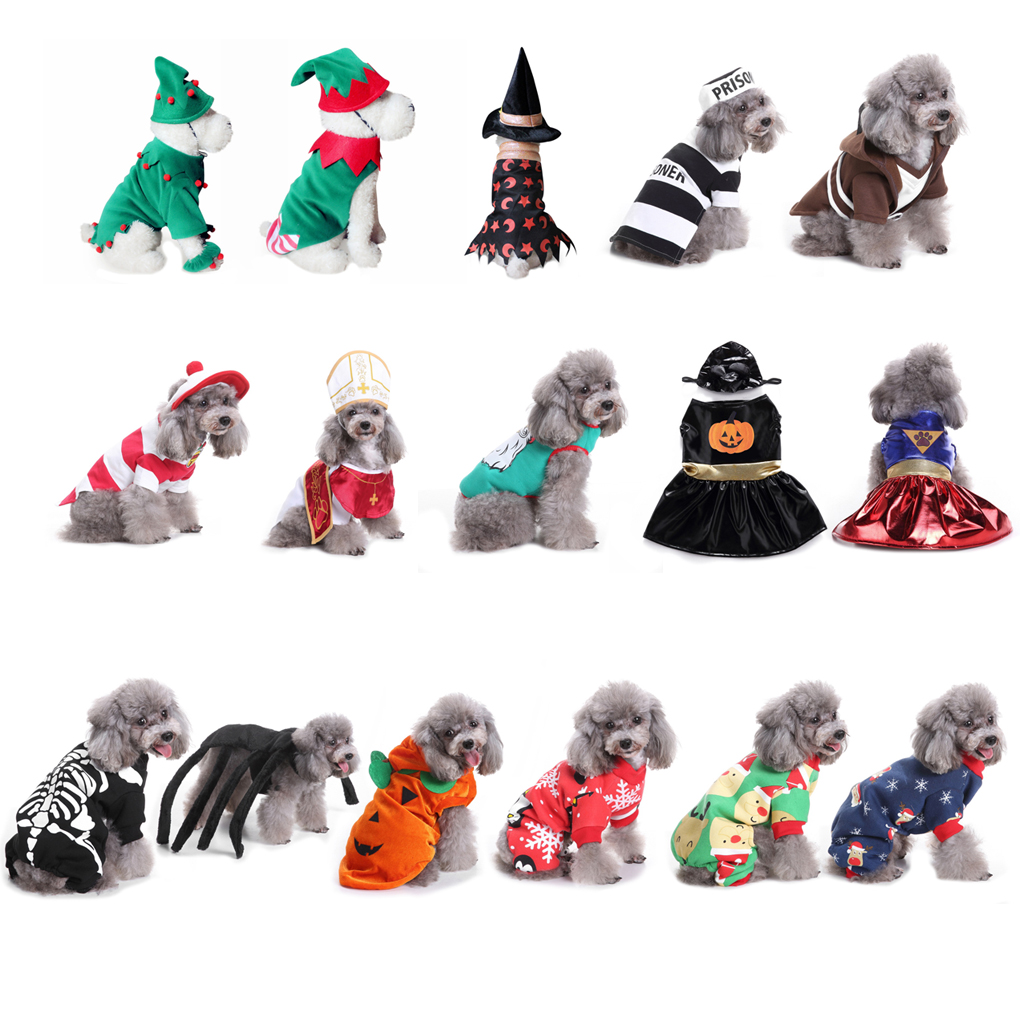 Halloween Pumpkin Dresses Costume For Dog Cat Cosplay Suit Clothing Christmas Prom Clothes Multi-Style
