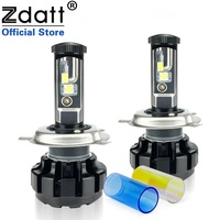 2Pcs Super Bright H4 Led Bulb 100W 9600LM Headlights High Power Car LED Lights 6000K White