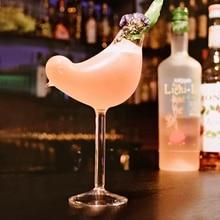 150 мл креативная чаша для коктейля в форме птицы, стеклянная индивидуальная молекулярная копченая модель, фэнтези, бокал для вина