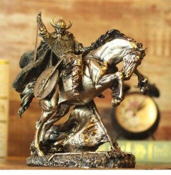 Medieval knight armor model vintage Roman armor warrior creative bar up craft knighthood horse decoration Crafts Arts