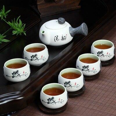 Ceramic Teaset Smart Gongfu Tea Set Suit For Puer Black