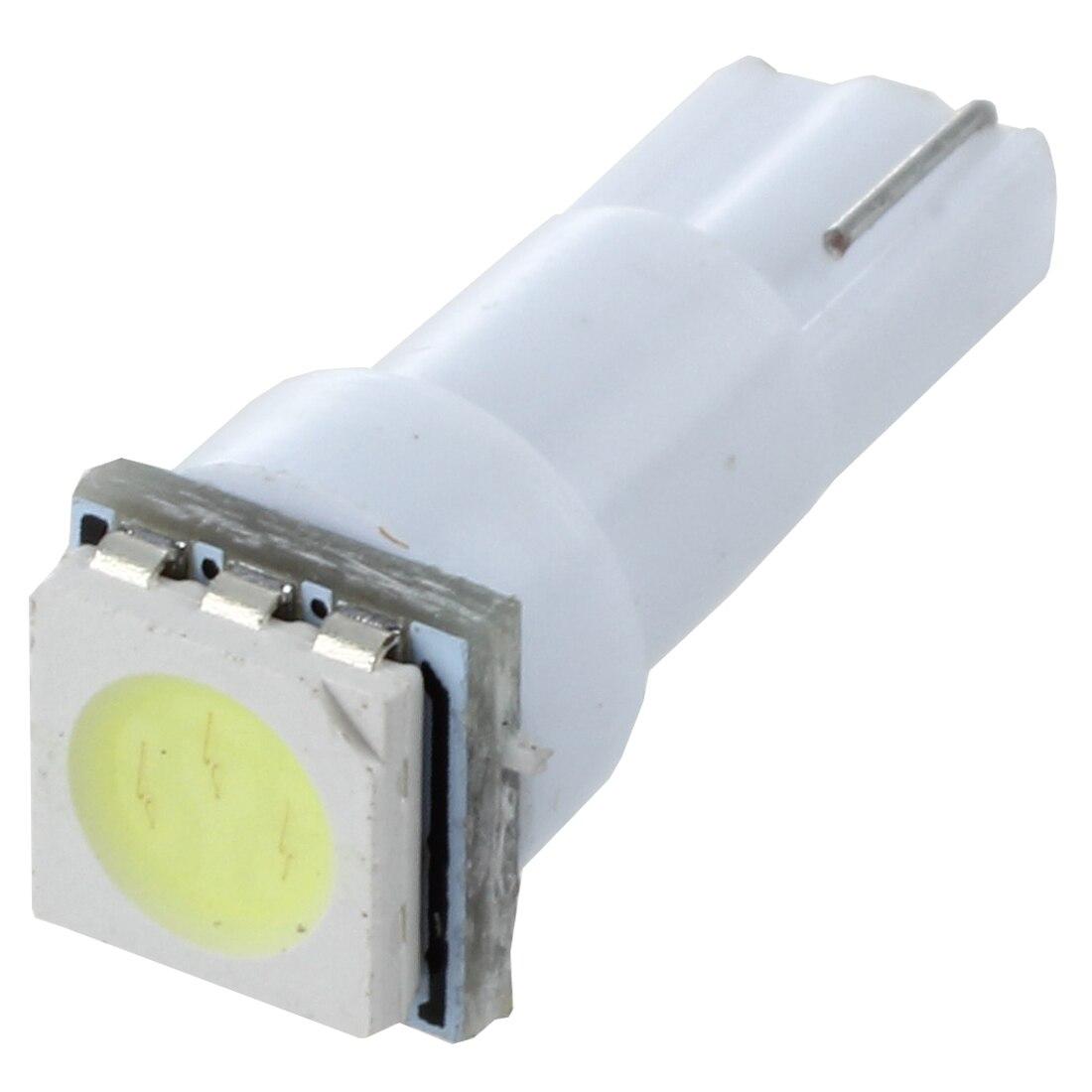10X Car T5 5050 SMD Dashboard White 1-LED bulbs light lamp 74 37 286 18 27 12v