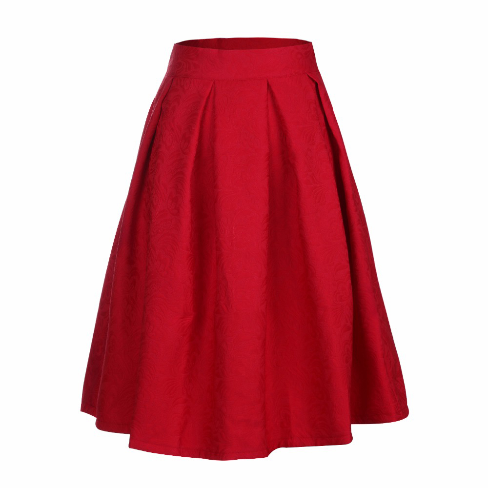 2016 midi skirt high waist skater tutu skirts