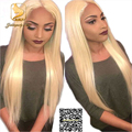 8A Lace Front Blonde Human Hair Wig for Fashion Women Virgin Human Hair Straight Full Lace Wig Glueless 613 color Lace Front Wig
