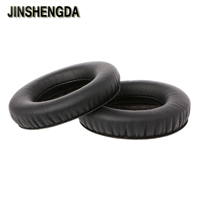 JINSHENGDA Earphone Accessory Replacement Leather Ear Pads For Steelseries Siberia V1 V2 V3 Headphone Headset
