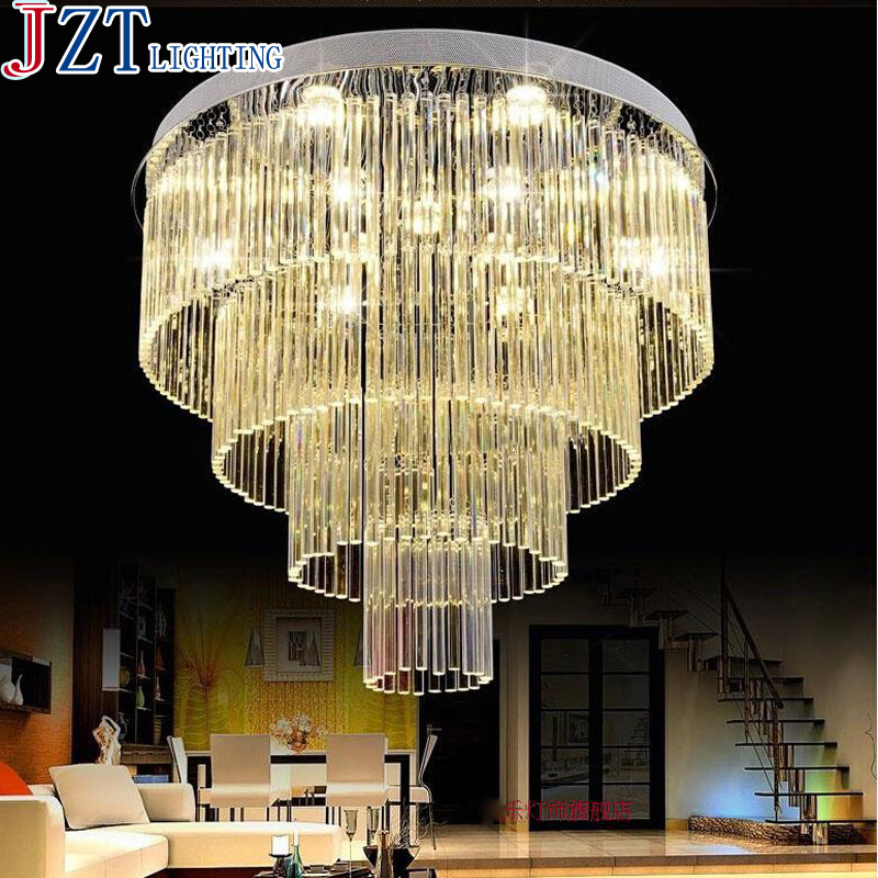 M Luxury Crystal Ceiling Lamp Gold Indoor Lighting Living Room Led Round Ceiling Light Surface Mounted Crystal Ceiling Lights