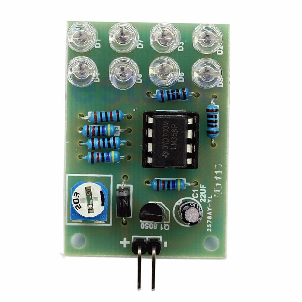 DIY Interesting Product Suite Blue Led 5MM Light LM358 Breathing Lamp Parts Kit
