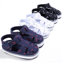 2018 Summer Style Fashion Anchor Baby Boys Shoes Infant Toddler Shoes Soft Sole Indoor Climb Shoes