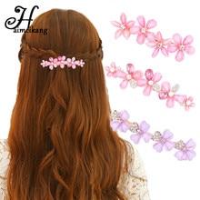 Haimeikang Мода Блестящий горный хрусталь цветок Кристалл Бабочка Шпильки зажим для волос для Для женщин Шпилька Головные уборы Женские аксессуары для волос