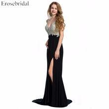 (Ship from US) Evening Dress Erosebridal Sparkly Beading Long Prom Party  Gowns Mermaid Formal Women Black Red Blue Vestido De Festa ZDH02 d40202ab77f3