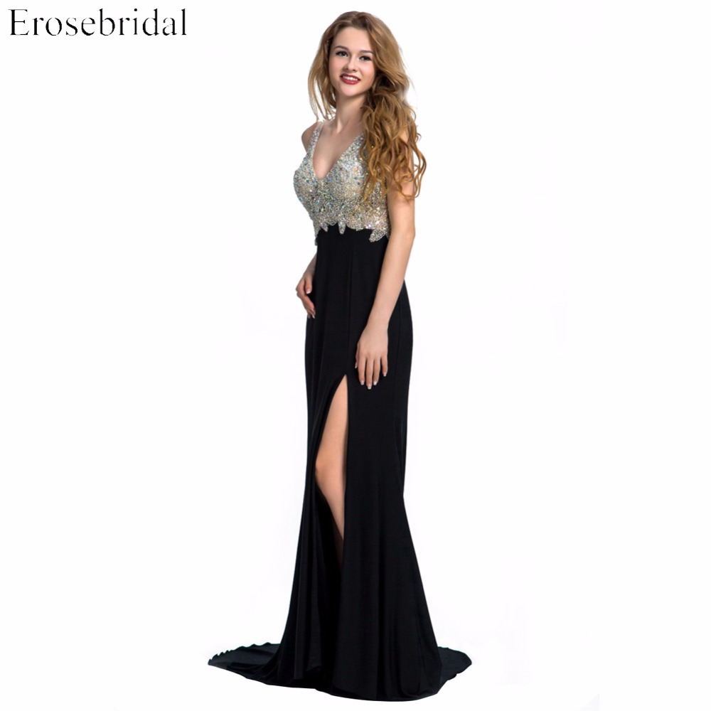 Evening Dress Erosebridal Sparkly Beading Long Prom Party Gowns ...