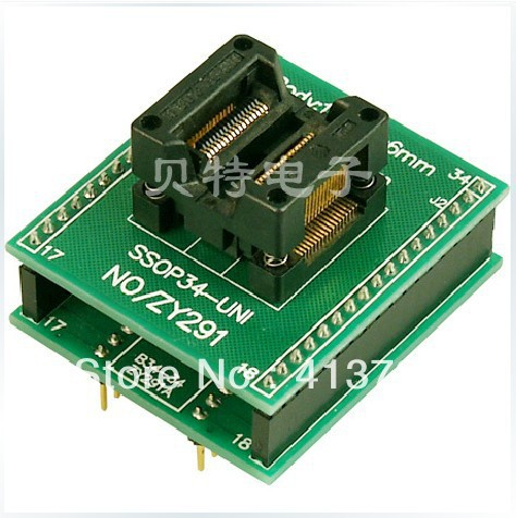 Ucos dedicated IC SSOP34 DIP34 adapter ZY291A burning test купить