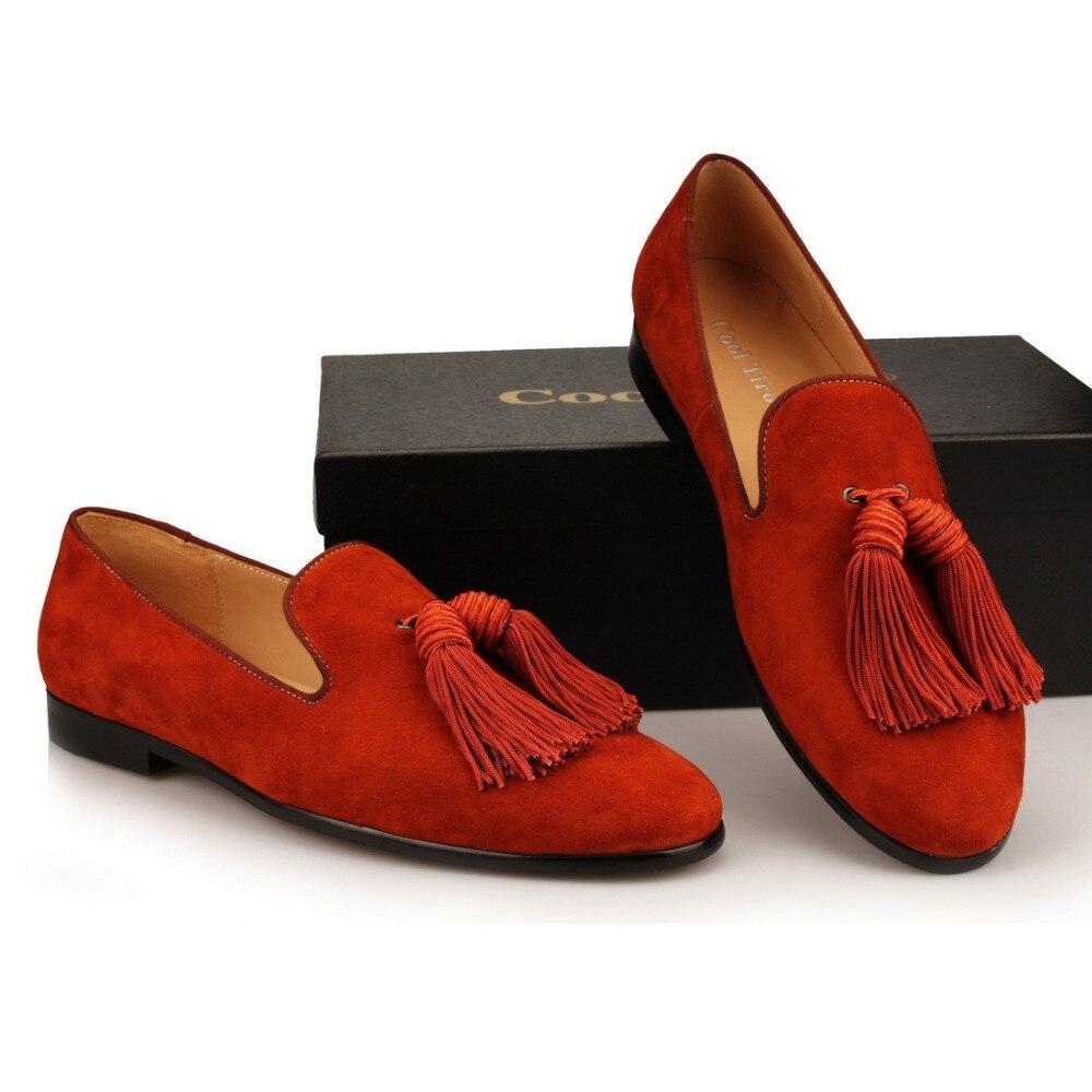 Tassel Men Loafers Suede SLIPPERS Flat (6)