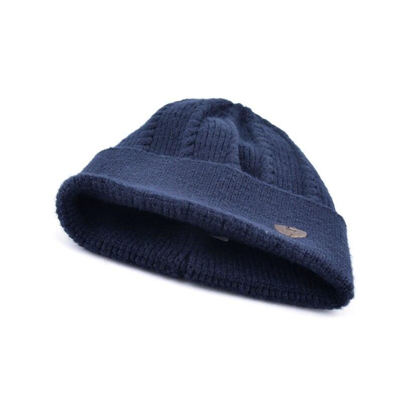 2017 Menino gorros chapéu do inverno dos homens de malha skullies tampão do inverno  chapéus para homens tampas osso gorro gorro de lã gorro quente masculino ... c5cb1d767eb