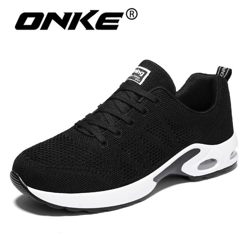 Onke Nouveau Style Chaussures de Course pour Hommes Super Cool Noir Sport Homme Sneakers Amortissement Léger Formateurs Gym Athletic Shoe