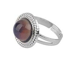 PIXNOR vendimia redonda ajustable anillo de humor moda emoción sentimiento  Color cambiante anillo af505cc5278