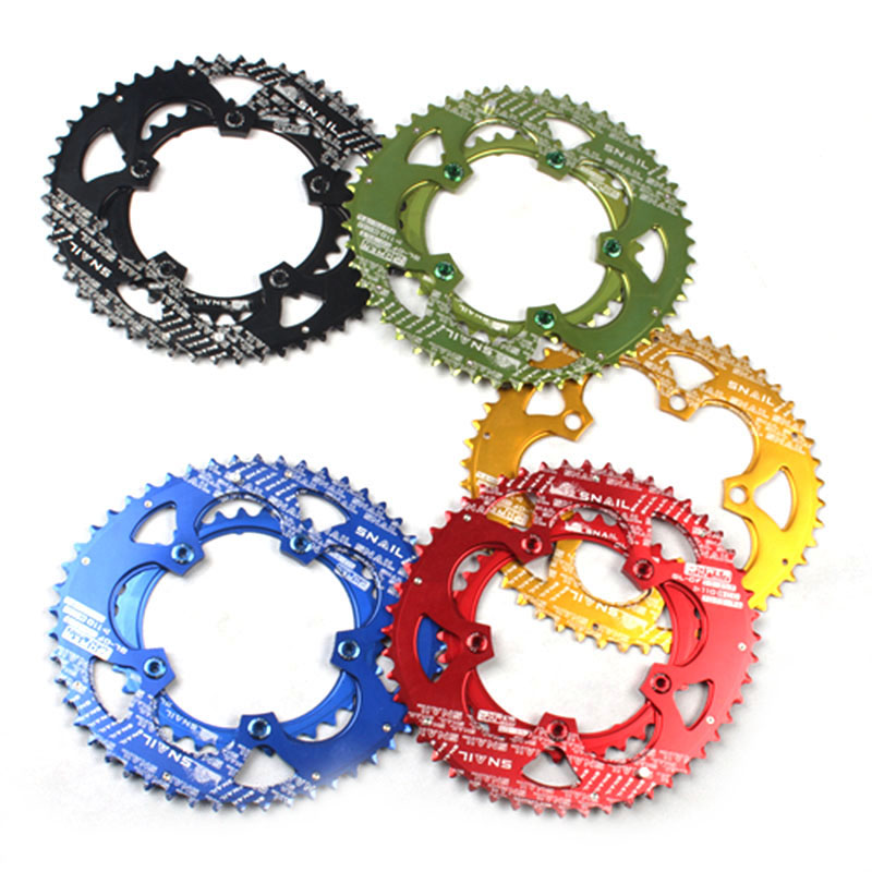Catazer Dual-Oval Ultralight 110BCD 50T/35T AL7075 Alloy Road Bike BMX Chainring Folding Bicycle Chain wheel Bike Crankset 7075t6 cnc mtb chain ring 110pcd 40 42 44 46 48t mtb bike bicycle crank chainring tooth disc chain ring cr e1 dx5800 110