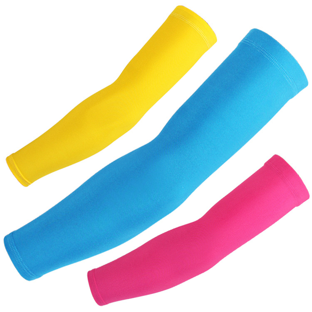 Arm Warmer Sun Uv Protection For Women And Men Solid Color Candy Elbow Compression Black 2018 Fashion New Arm Sleeves Arm Cover