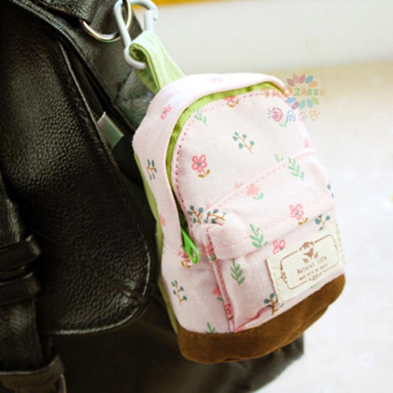 Mini Floral Pencil Bag School Case Mini Wallet Coin Purse Flower School Bag Change Purse Stationary School Supplies Pen Box 1pcs
