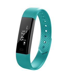 Image 4 - Bluetooth Smart Wristbands Rectangle shape 0.86 inches OLED touch screen sport fitness tracker armband for Pedometer Sleep Track