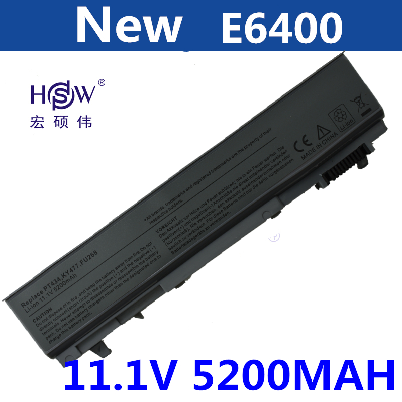 HSW oem Laptop Battery For dell Latitude E6400 M2400 E6410 E6510 E6500 M4400 M4500 M6400 M6500 1M215 312-0215 312-0748 312-0749 lacywear s 312 foy