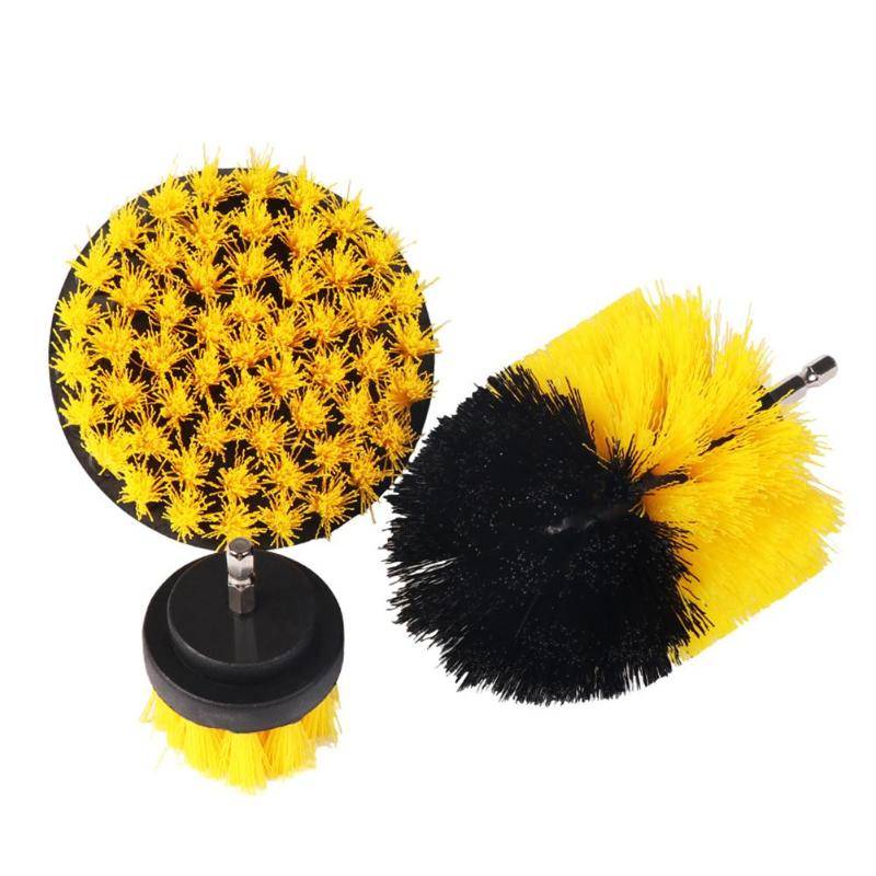 3pcs Power Scrubber Brush Nylon Brushes Drill Tile Grout Scrubber Cleaning Drill Tub Cleaner Kit Wood Grinding Polishing Tool