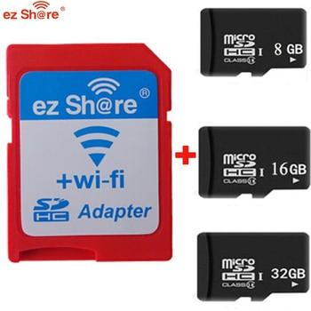 Original ezshare High Speed Wireless WIFI WLAN SD Card Adapter Micro ez share SD card to  8gb 16gb 32gb TF card
