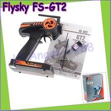 Оптовая продажа 1 шт. Flysky FS-GT2 FS GT2 2.4 г 2ch gun rc Системы передатчик/контроллер с 3 Каналы приемник