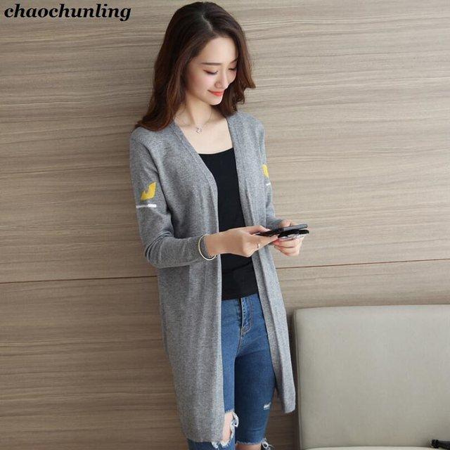 Tienda Online 2018 nuevo otoño coreano mujeres de punto Chaquetas ...