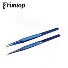 Titanium Microsurgical Instrument Platform Curved Lines Straight Line tweezer 14cm Mobile