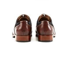 QYFCIOUFU Men's Formal Oxford Shoes Genuine Leather Fashion Office Wedding Business Male Dress Shoes luxury italian brogue shoes