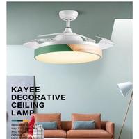 Modern Ceiling Fan Lights 42inch Dining Room Bedroom Living remote control Fan Lamps Wooden Ceiling Fan Lightings Home Office