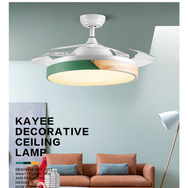 Modern Ceiling Fan Lights 42inch Dining Room Bedroom Living remote control Fan Lamps Wooden Ceiling Fan Lightings Home Office