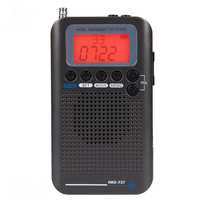 HRD 737 Full Band Radio Digital Demodulator FM/AM/SW/ CB/Air/VHF World Band Stereo Portable Radio with LCD Display Alarm Clock