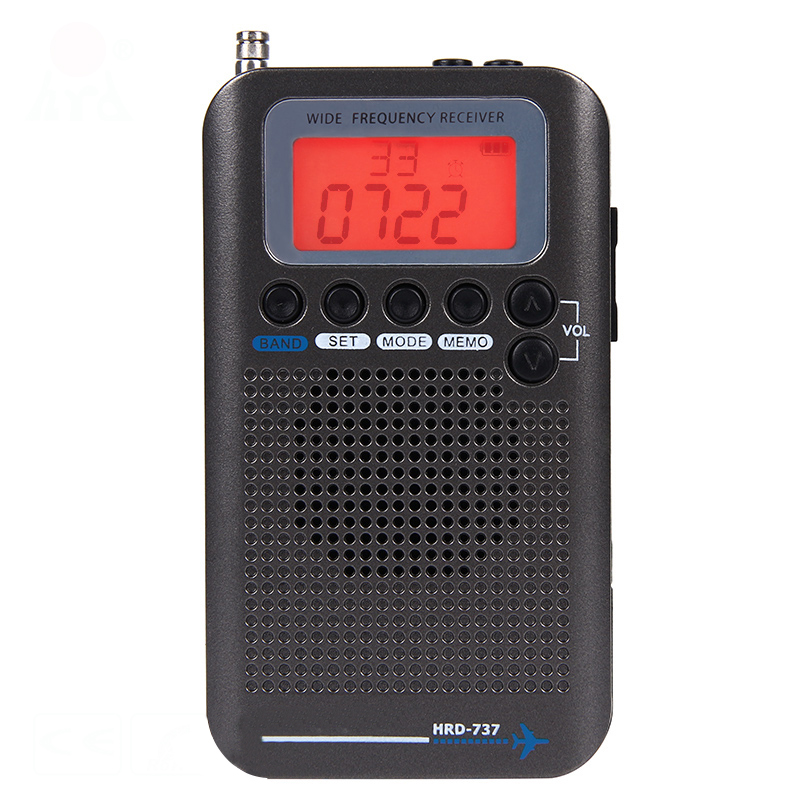 HRD-737 Full Band <font><b>Radio</b></font> Digital Demodulator FM/AM/SW/ CB/Air/VHF World Band Stereo Portable <font><b>Radio</b></font> with LCD Display Alarm Clock image