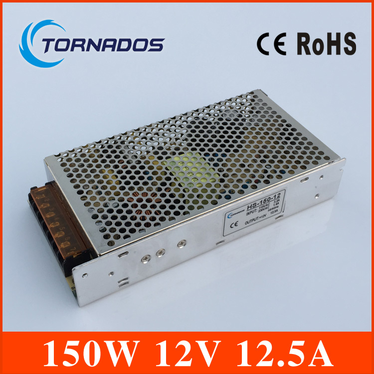 free shipping 150w 12v  12.5A Voltage Transformer Switch Power Supply  Driver For LED Light Strip Display Factory Supplier high voltage flyback transformer hy a 2 use for co2 laser power supply