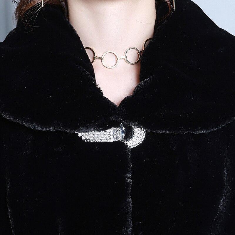 Fourrure Véritable Longue 2018 Tops La Collor Jupe De Femmes Grande Zt240 Cisaillé Moutons Laine Plus Taille Veste Black D'hiver Manteau qxgIA1wt