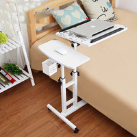 LK363 High Quality Folding Metal Laptop Stand Height Free Lift Laptop Table For Bed Sofa Office
