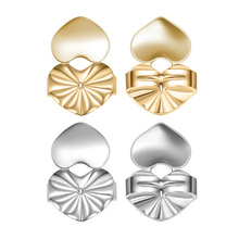 Magic Fashion Earring Backs Support Earring Lifts Fits all Post Earrings Set Gold Silver Color Jewelry