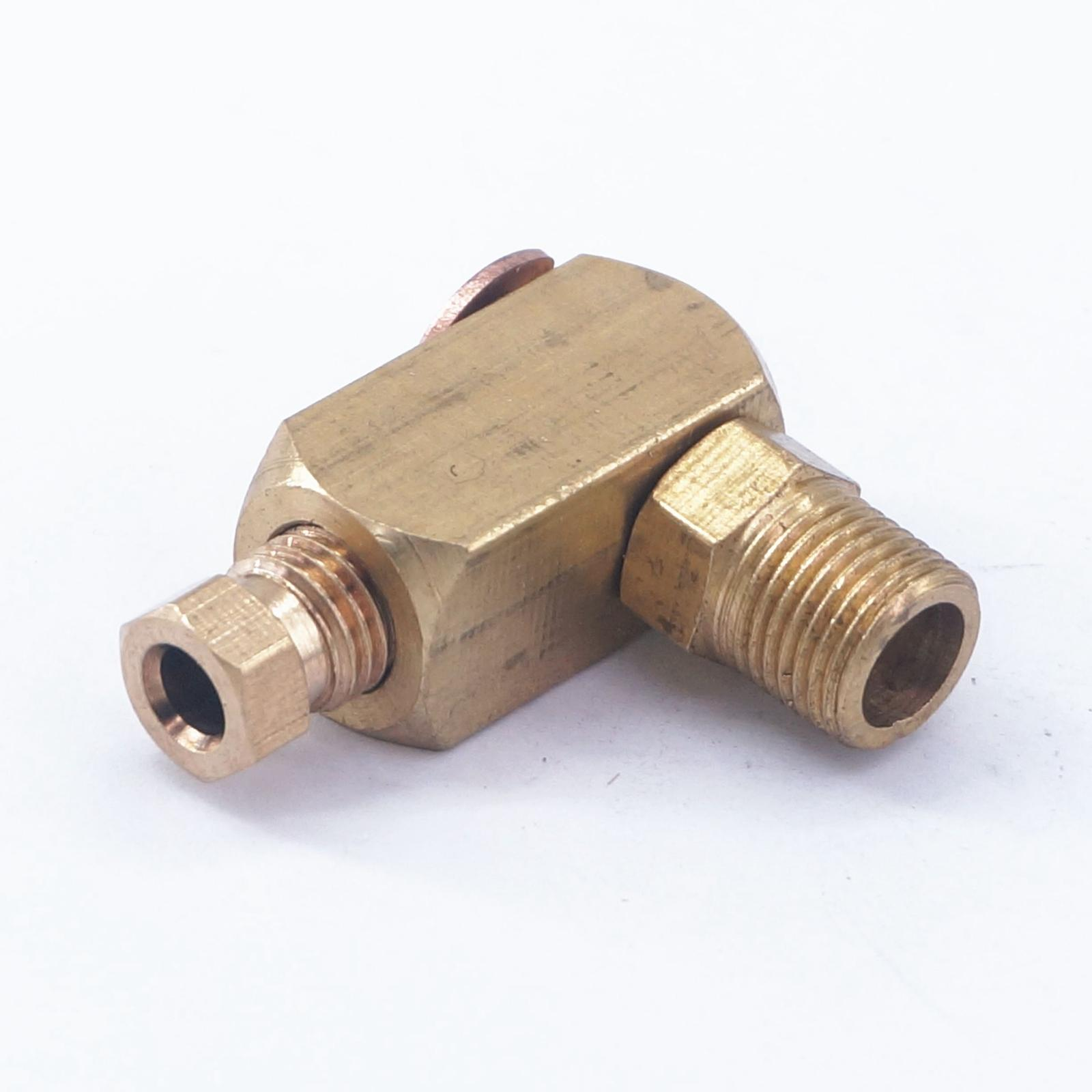 BSP Male 4-8mm OD Tube Brass Connector Fitting Machine Oil Filter Canister 5