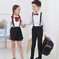 Boys Girls CLOTHING SET BOYS WHITE COLOR  Long Sleeves Shirt GIRLS Clothing set  School costumes Moderator Clothing skirt shirt