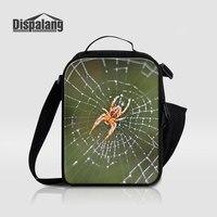 Dispalang Impresión 3D Araña Telaraña de Bolsas de Comida de Animales Para Niños bolsa de Tela patrón de Comida de Picnic Bolso Más Fresco Lonchera Térmica Para escuela
