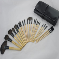 24pcs brown Cosmetic Brushes Tools Pro Makeup Brush Set In Package