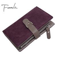 2018 Latest Women's Leather Famale Vintage   Wallet   Brand Designer Zipper Coin Purse   Wallets   Card Holder Clutch For Girls Sac