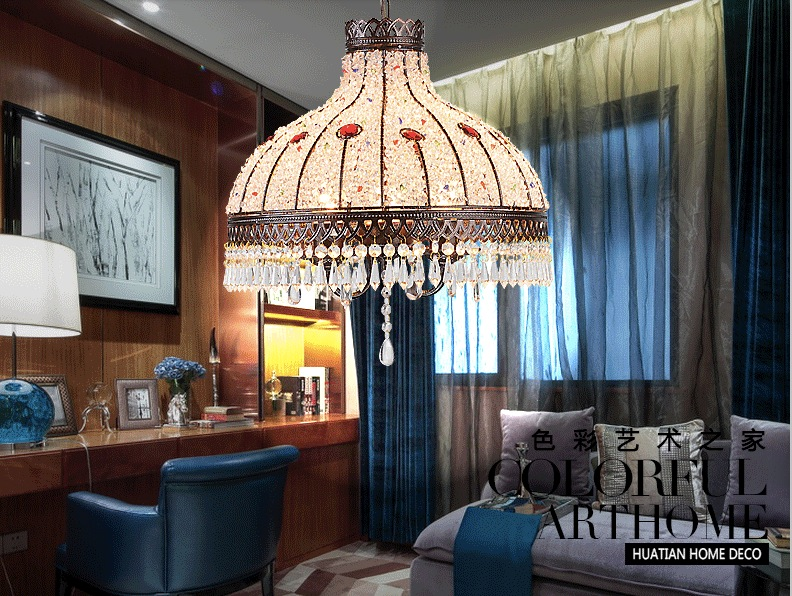 Free Shipping Crystal Pendant Lights Lamps Lighting Fixtures,Bohemian Style Semicircel Iron Ceiling Pendant lamps,AC110-240V crystal pendant lamps lighting fixtures 4 1l bohemian style semicircel iron ceiling pendant lamps ac110 240v free shipping