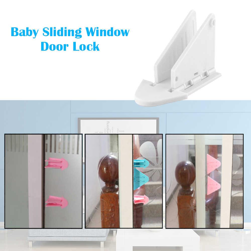Serrure de porte à fenêtre coulissante   1 paquet, verrouillage de porte coulissante pour bébés chiens ou chats, anti-enfant