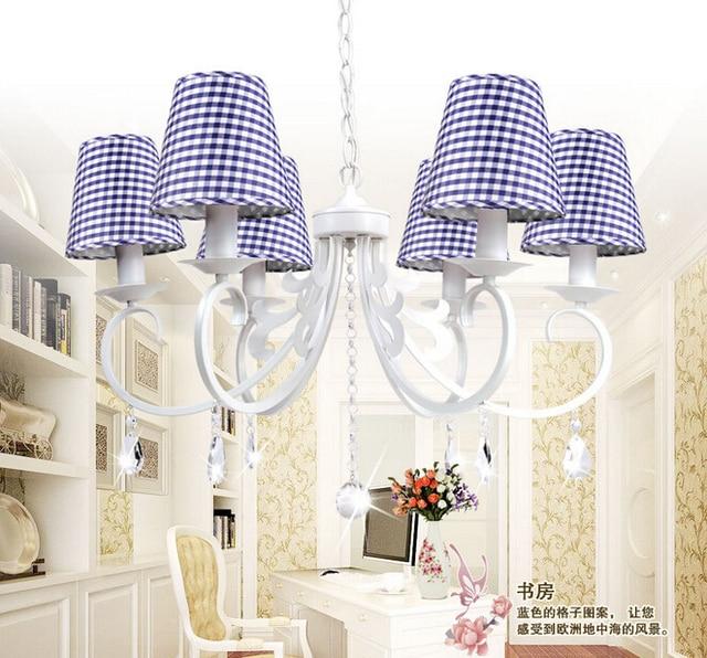 6 Europäische Koreanische Schmiedeeisen Wohnzimmer Lampen Rosa/Rot